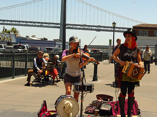 Наследники Бубы, уличные музыканты